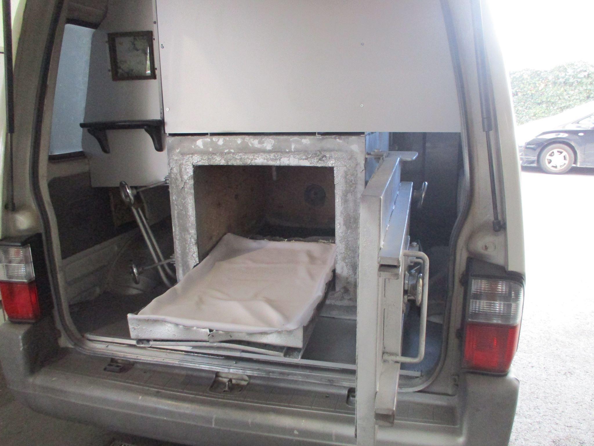 ペットの移動式火葬車両